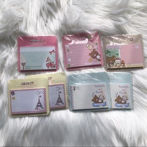Rilakkuma sticky notes set of 7
